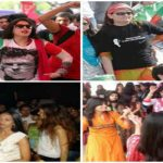 Girls dancing in PTI jalsa