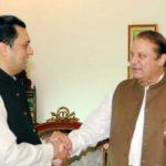 PML-N Qaiser Mehmood with Nawaz Sh