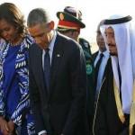 Michelle Obama and Barack Obama in Saudi Arabia