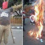 protest against Rameez Raja
