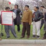 MQM protested outside White House